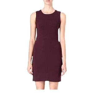 Diane von Furstenberg GALYA BODYCON plum dress new